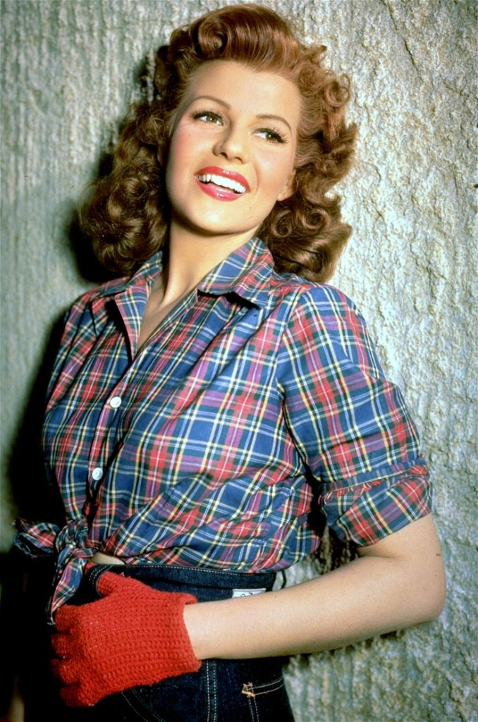 Rita Hayworth Plaid Outdoors Woods Inspired