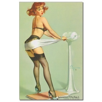 Exercise Pin Up Girl