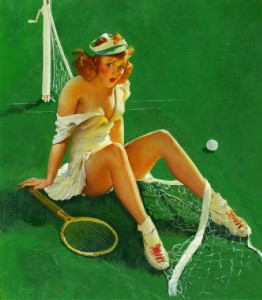 Gil Elvgren Pin Up Tennis
