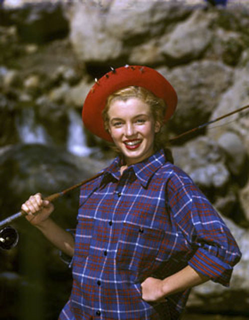 Marilyn Monroe Plaid Fishing Outdoors Camping Woods Fashion Inspiration