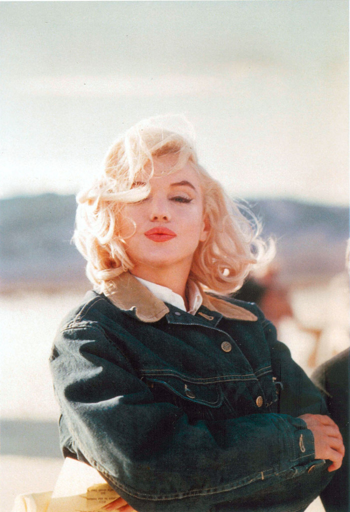 Marilyn Monroe Denim Outdoors Woods Camping Fashion Inspiration