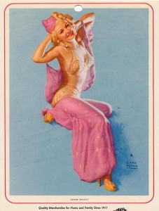 Belly Dancing Pin Up