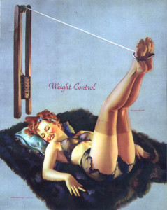 Gil Elvgren Pin Up Girl Working Out