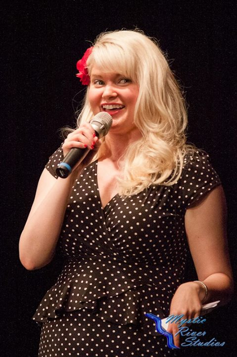 This is me at one of my comedy performances