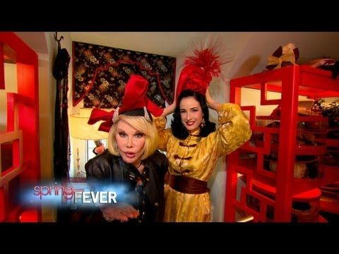 Dita Von Teese Joan Rivers Fashion Police Closet Raid