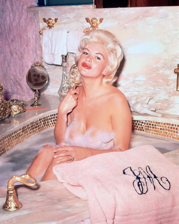 Jayne Mansfield Pink Bath in Bathroom