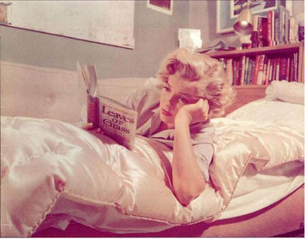 Marilyn Monroe Reading Walt Whitman's Leaves of Grass in Bed