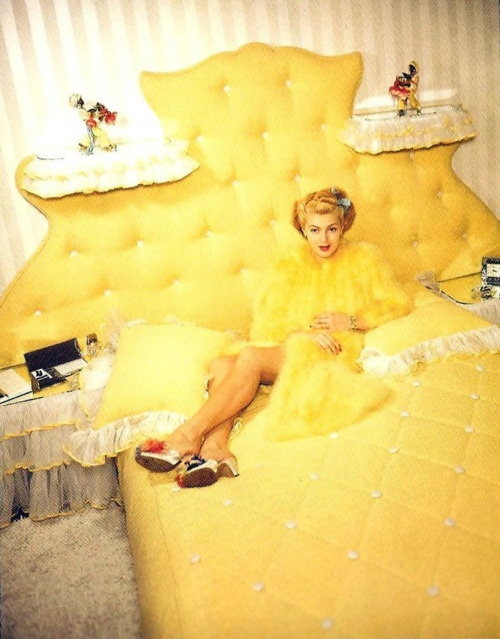 Lana Turner Yellow Bedroom