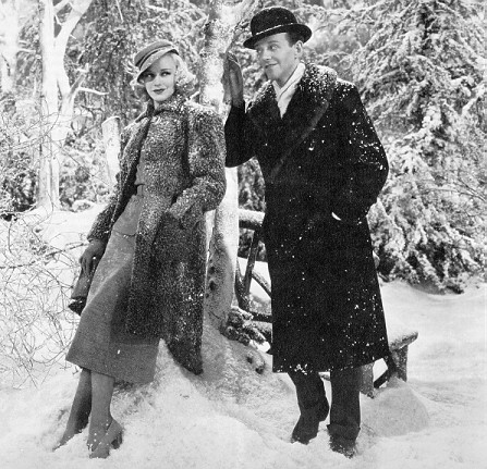 Ginger Rogers winter snow fashion style