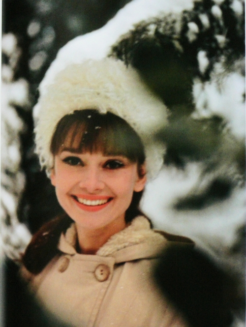 Audrey Hepburn winter snow fashion style