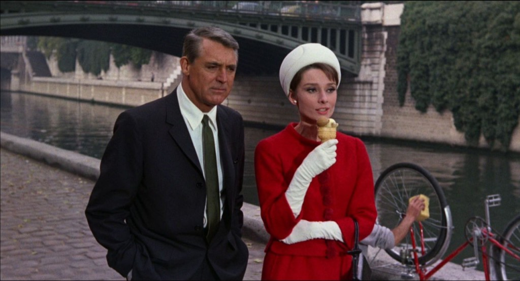 Audrey Hepburn Charade Cary Grant Ice Cream Fashion