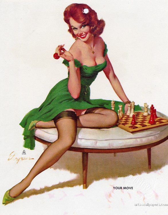 Pin up green chess