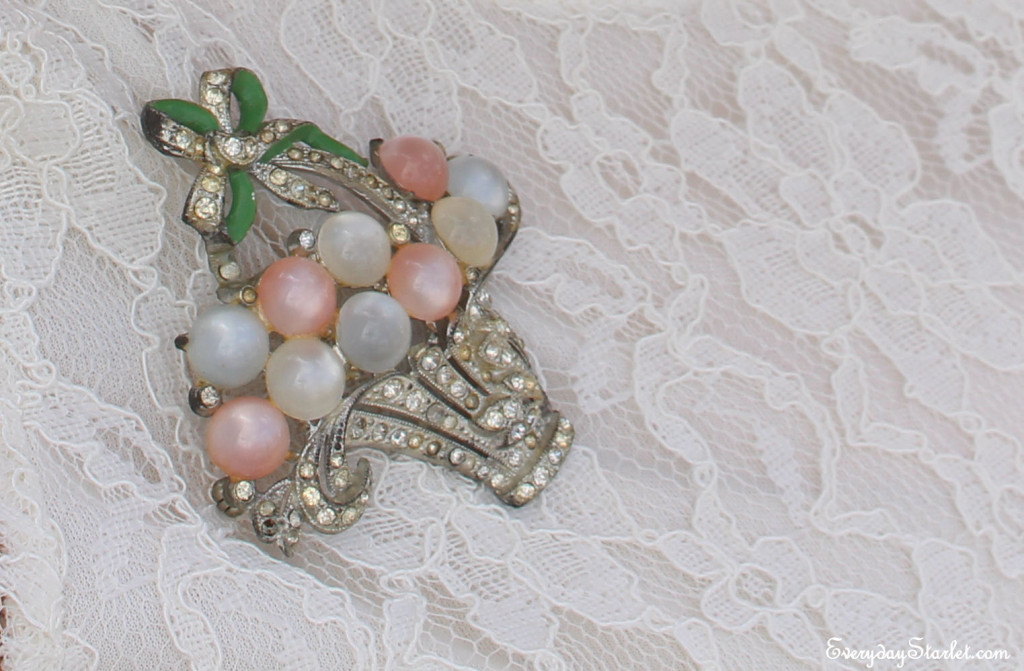 Vintage Easter Basket Brooch