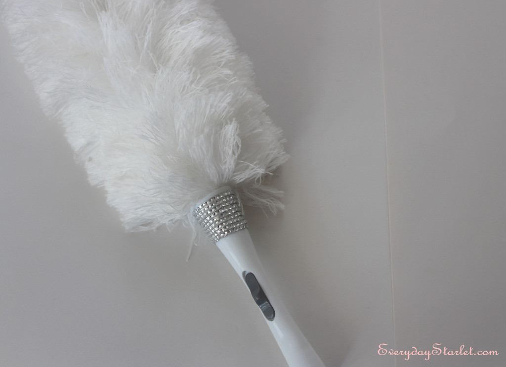 DIY Rhinestone Feather Duster Finished