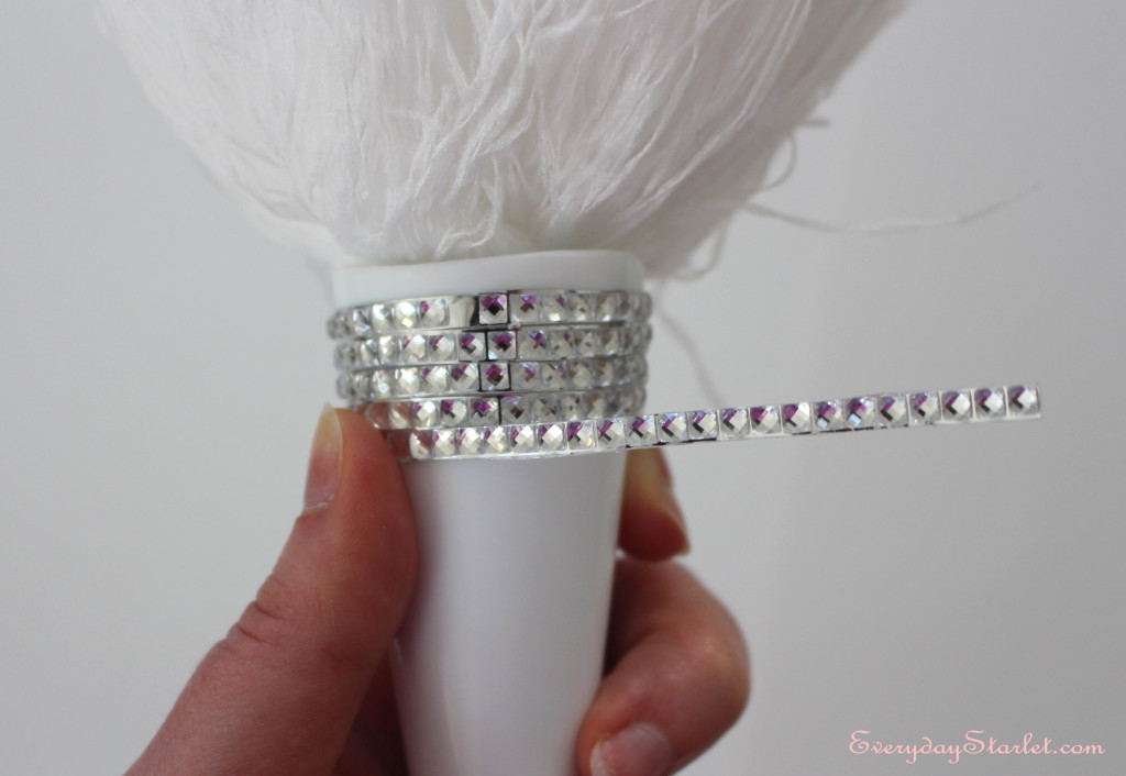 DIY Rhinestone Feather Duster