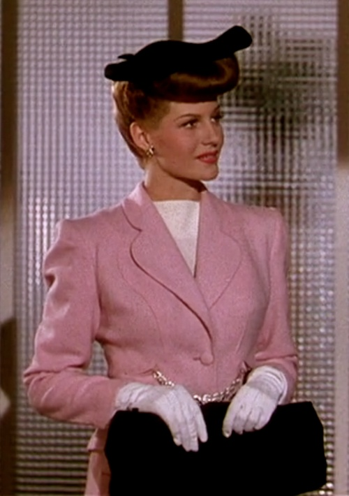 Rita Hayworth Pink Suit Cover Girl
