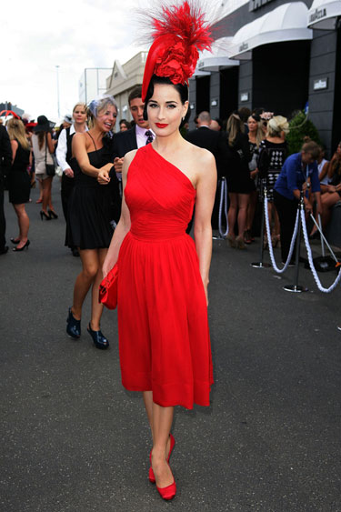 Dita Von Teese Kentucky Derby