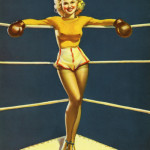Pin Up Girl Boxing