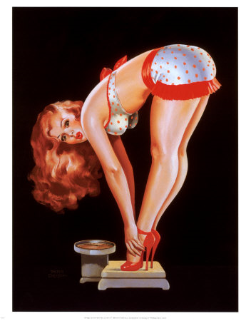 Pin Up Girl Stretching