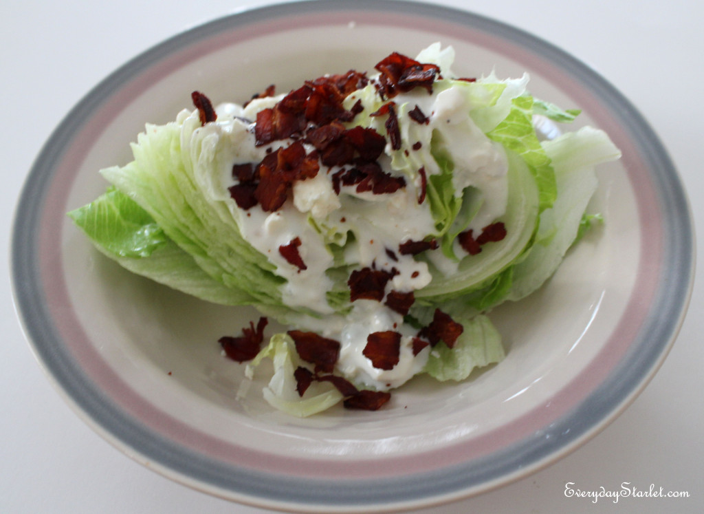 Iceberg Wedges with Pancetta Gorgonzola Dressing
