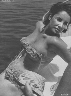 Elizabeth Taylor Lace Swimsuit