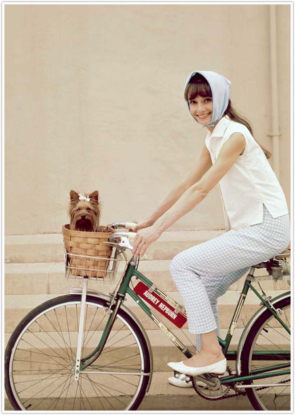 Audrey Hepburn Summer Bike and Flats