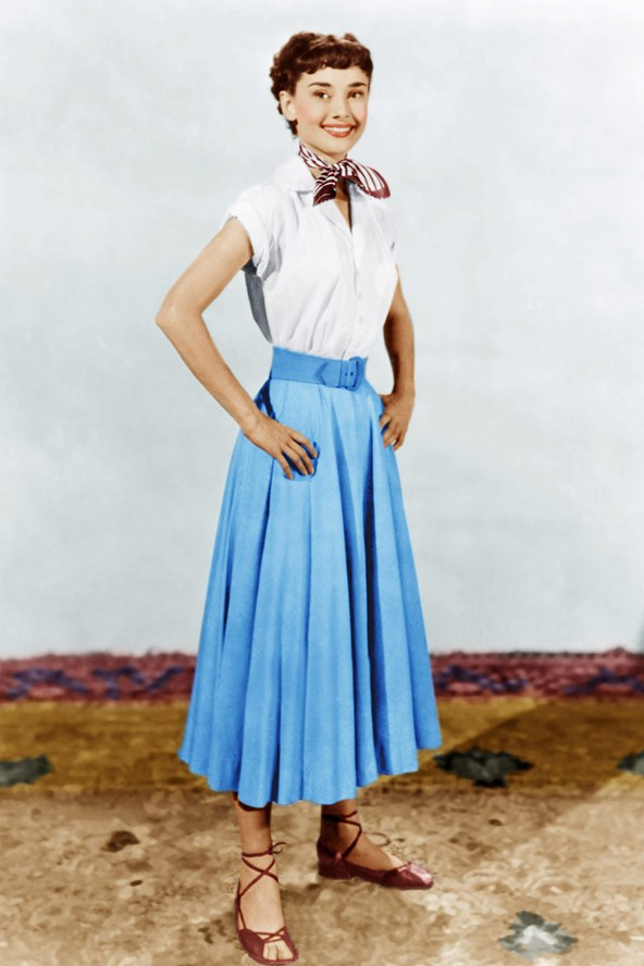Audrey Hepburn Roman Holiday Full Skirt