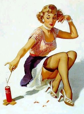 4th of July Gil Elvgren Pin Up