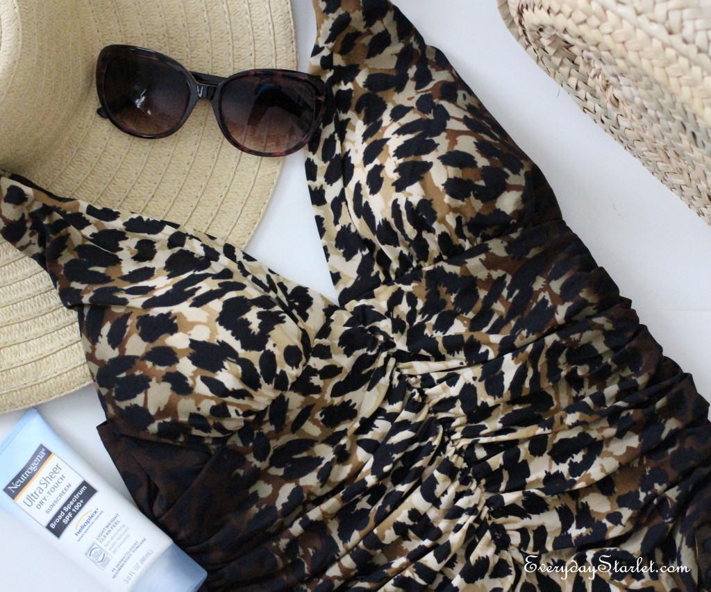 Leopard Miraclesuit Swimsuit Inspired by Elizabeth Taylor
