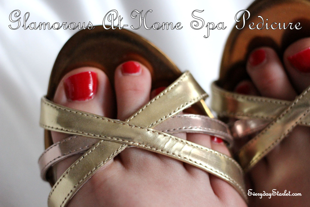 Glamorous, Inexpensive, At-Home Spa Pedicure