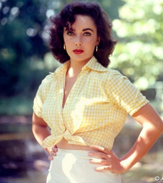 Elizabeth Taylor Yellow Gingham