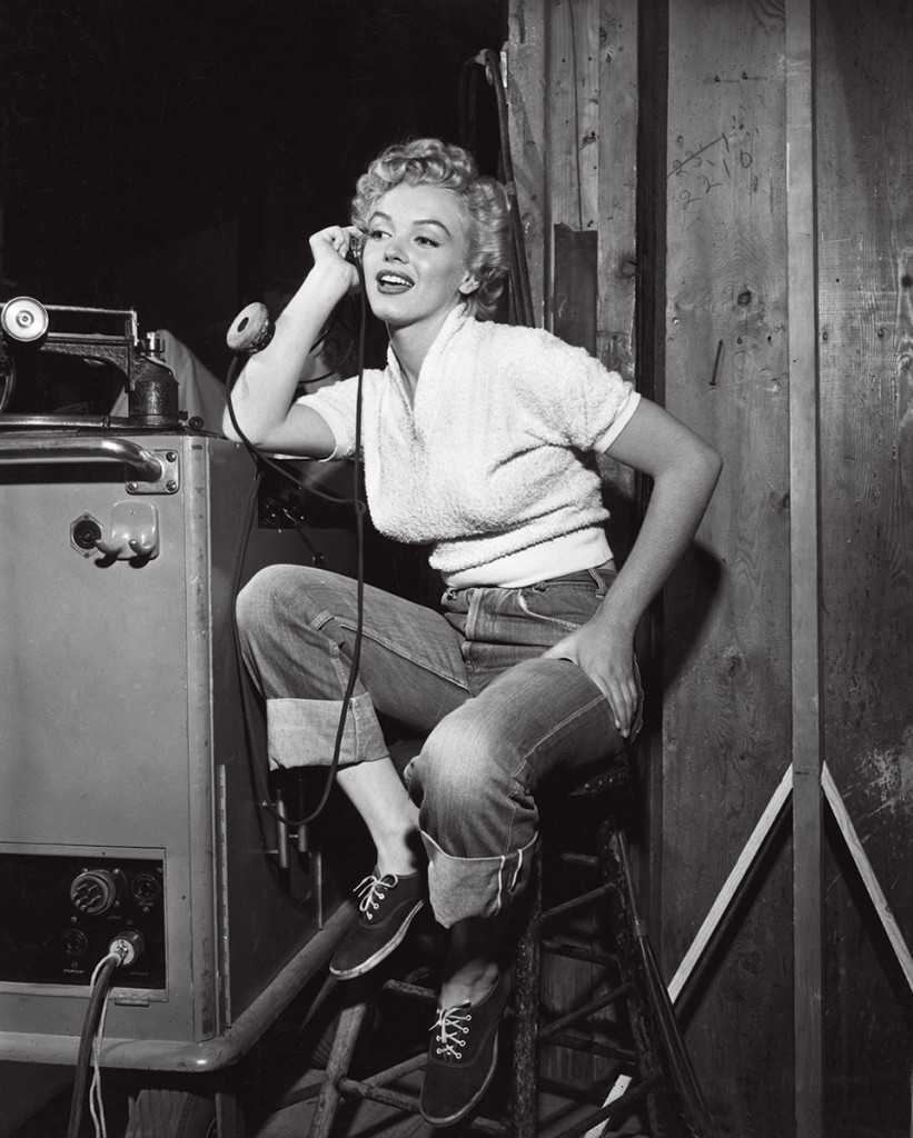Marilyn Monroe Cuffed Denim Jeans and Keds
