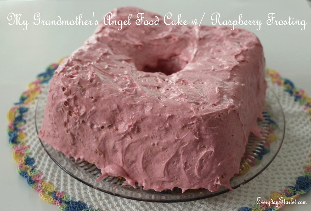 Angel Food Cake and Raspberry Frosting 2