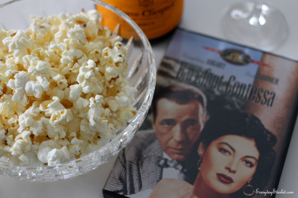 Barefoot Contessa truffle popcorn with the Bogart Ava Gardner classic film