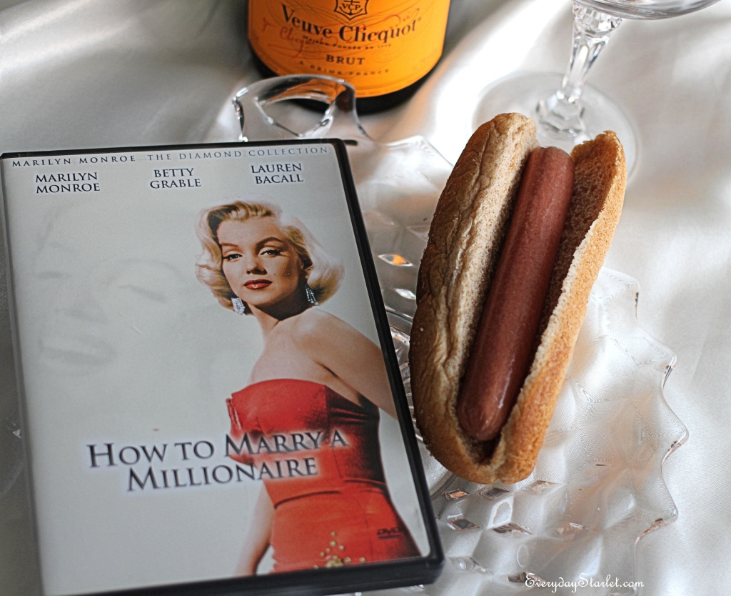 Healthy Hot Dogs Champagne Marilyn Monroe How to Marry a Millionaire