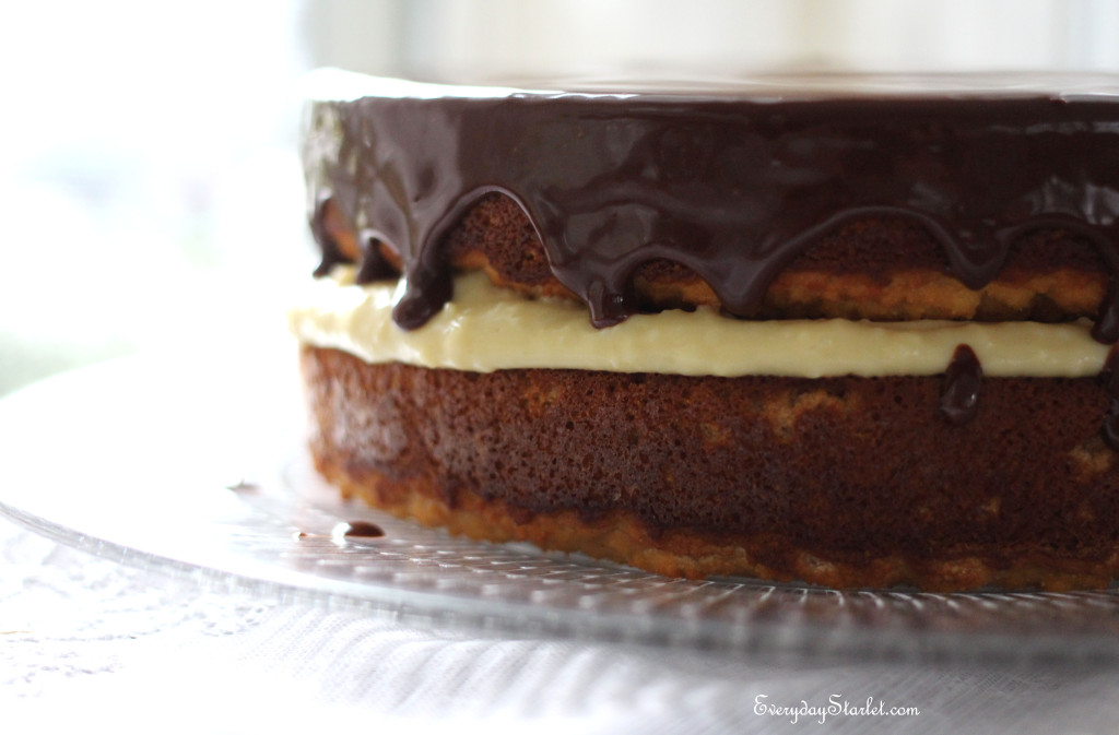 Gluten Free Dairy Free Boston Cream Pie