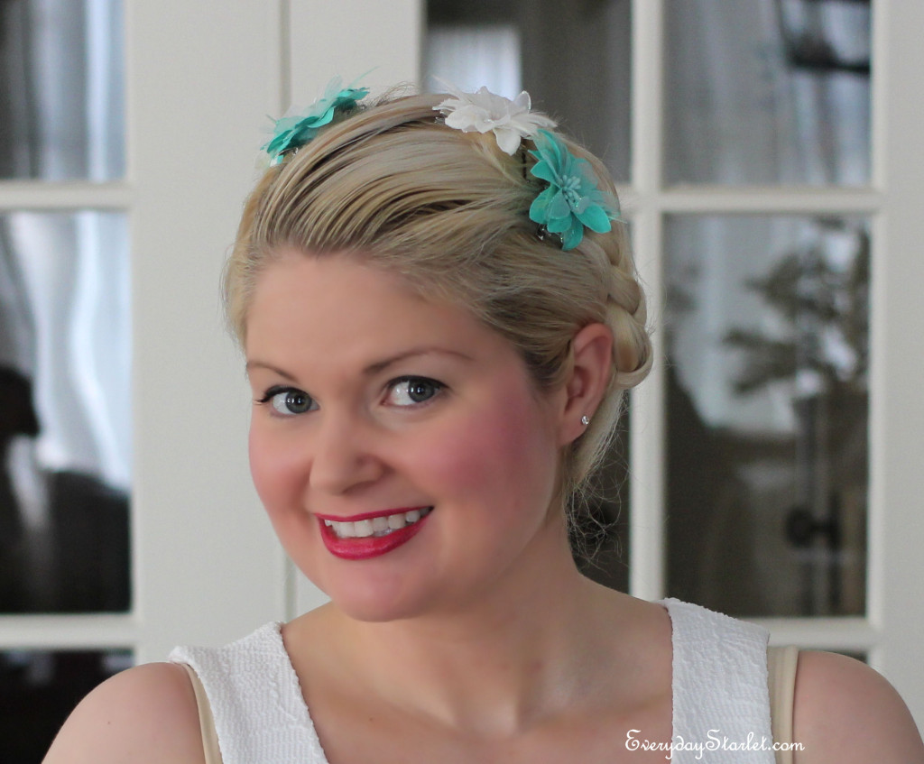 Esther Williams Inspired Braided Updo