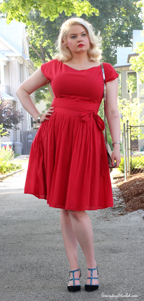 Pin Up Girl Dress Candy Apple Red OOTD