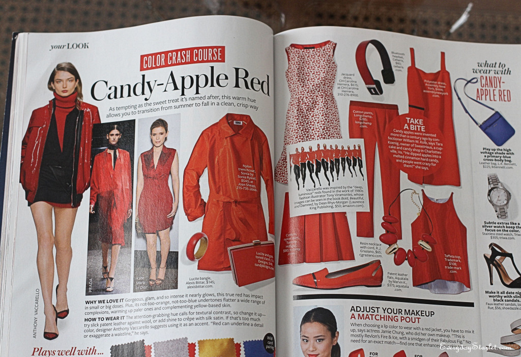 InStyle Magazine Color Crash Course Candy Apple Red