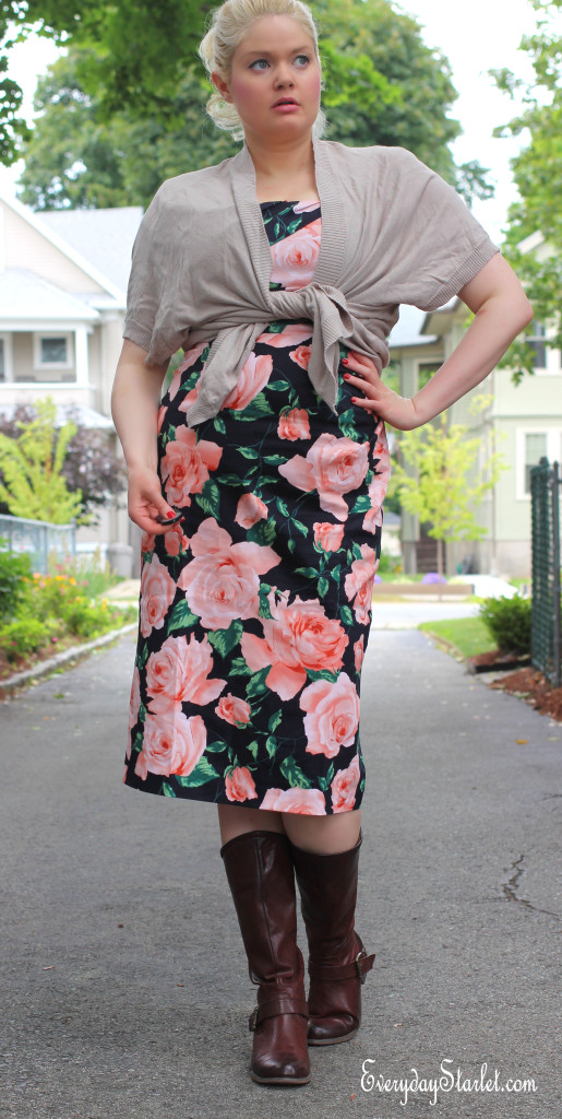 Modcloth dress dark florals casual Molly Ringwald The Breakfast Club inspired