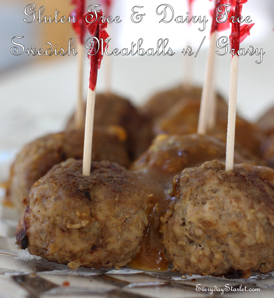 Gluten free Dairy Free Swedish Meatballs Dinner