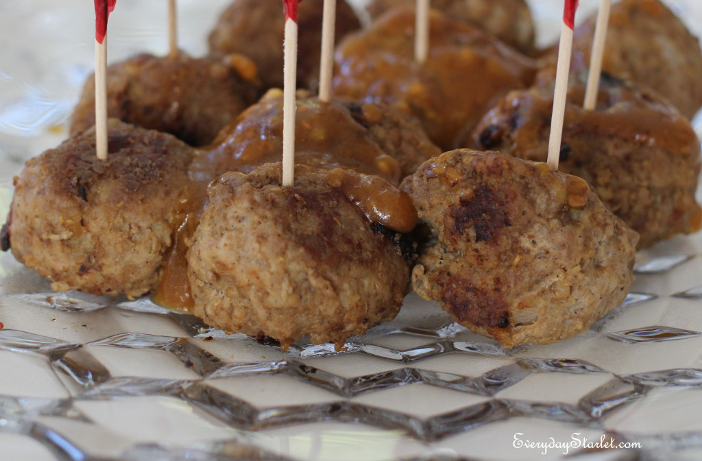 Gluten free Dairy Free Swedish Meatballs Cocktail Canape