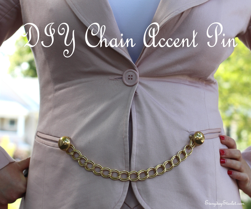 DIY Chain Accent Pin