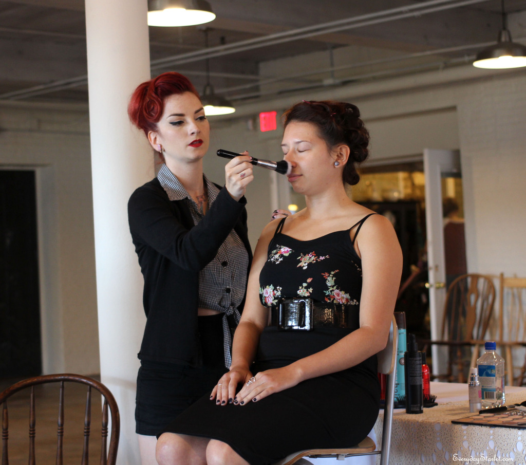Cherry Dollface Vintage Pinup hair and makeup class