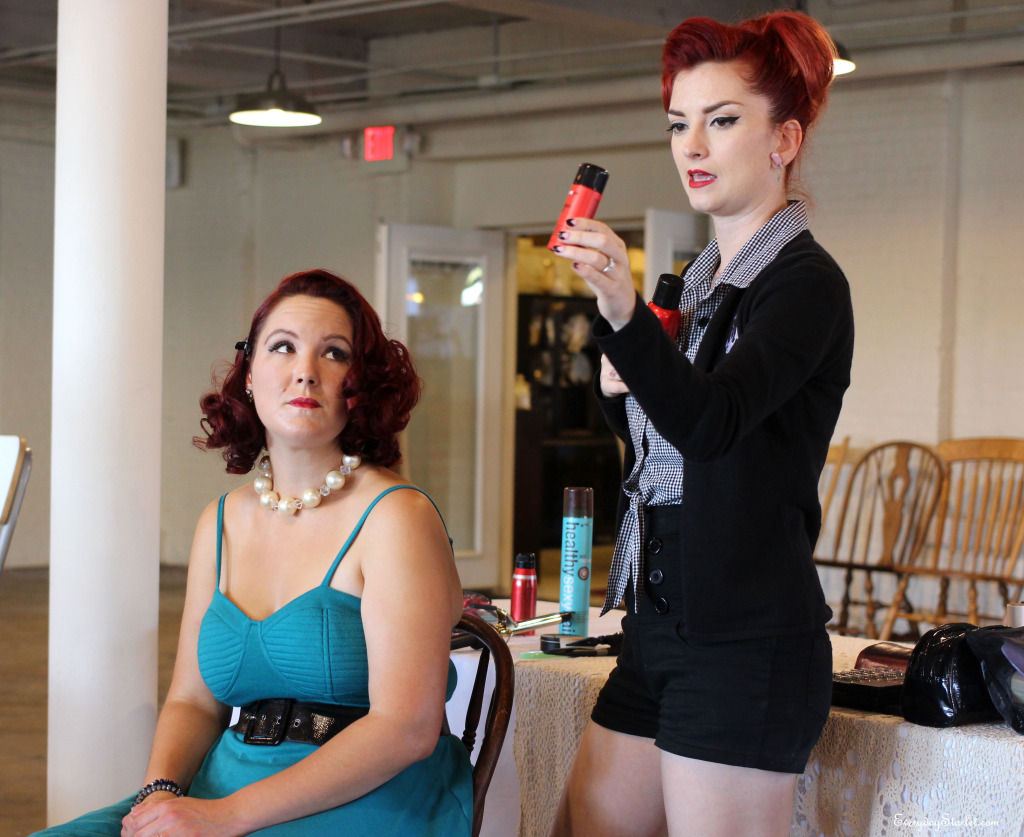 Vintage Pinup hair and makeup class with Cherry Dollface and Big Sexy Hair