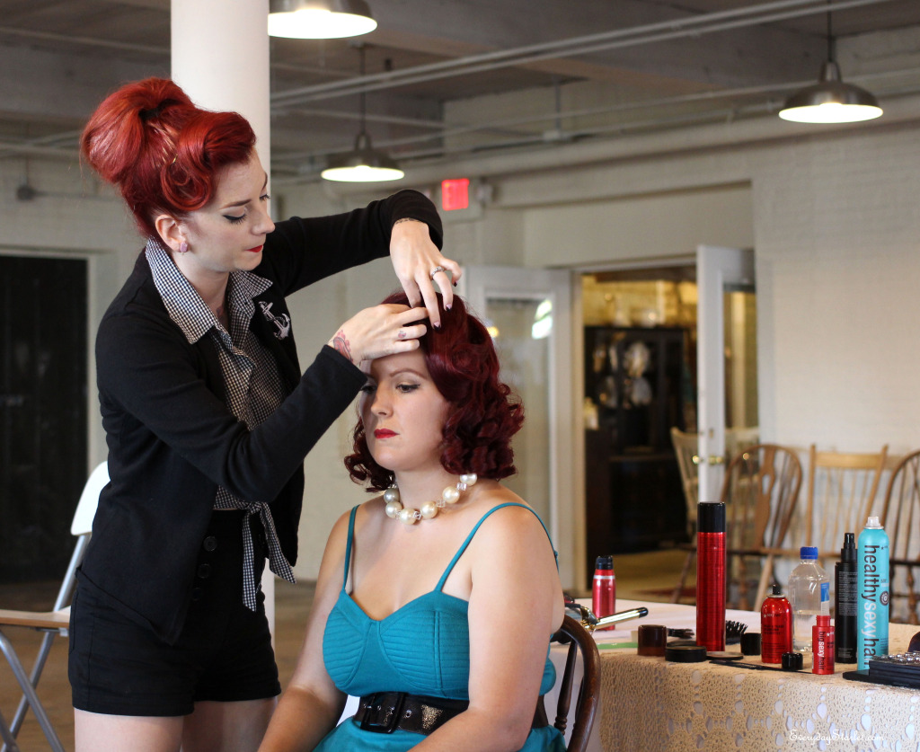 Cherry Dollface Vintage Pinup hair and makeup class at Crompton  Collective in Worcester MA