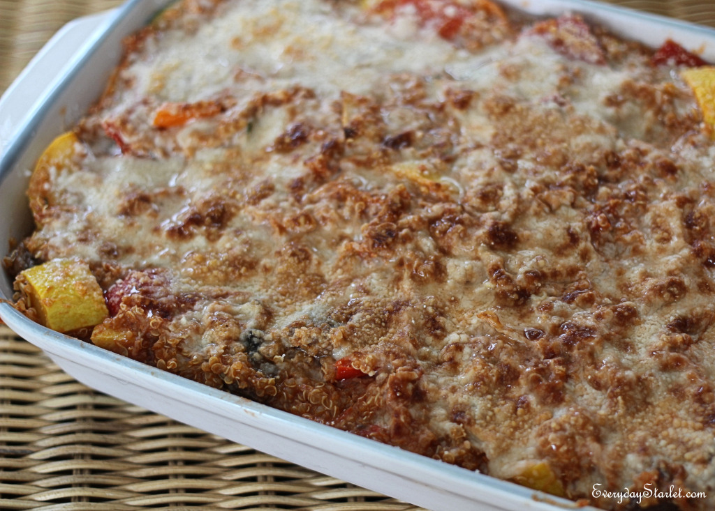 Quinoa Vegtable Bake Gluten Free Dinner