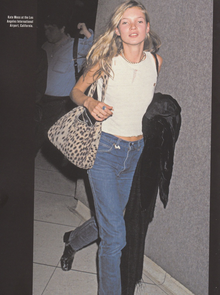 Kate Moss model off duty look 90s
