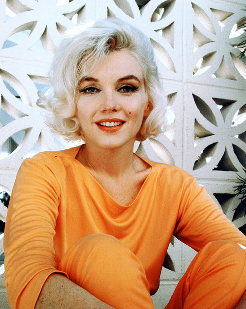 Marilyn Monroe Orange Lipstick