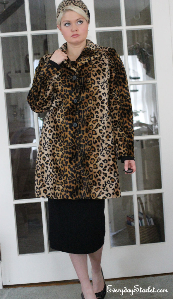 Barbra Streisand as Fanny Brice in Funny Girl Halloween Costume Leopard Coat Hat